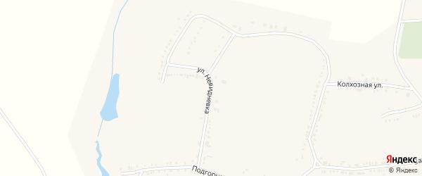 Улица Невидневка на карте поселка Красной Яруги с номерами домов