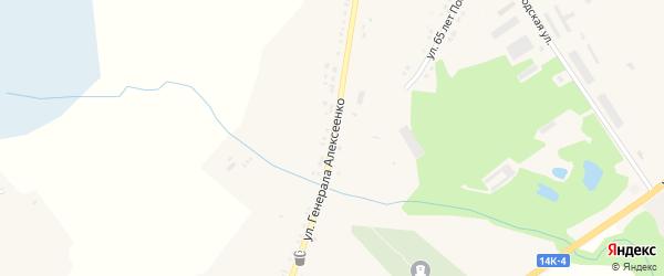 Улица Генерала Алексеенко на карте села Глотово с номерами домов