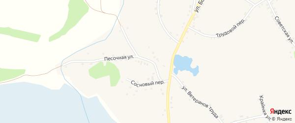 Песочная улица на карте села Глотово с номерами домов