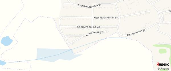 Котельная улица на карте поселка Красной Яруги с номерами домов