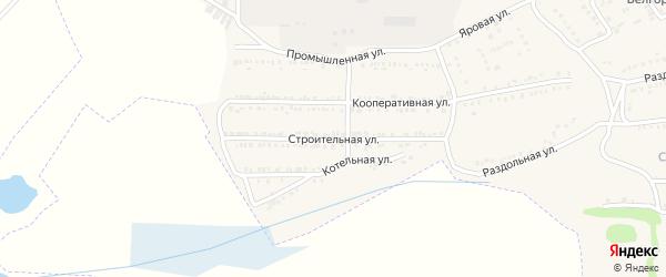 Строительная улица на карте поселка Красной Яруги с номерами домов