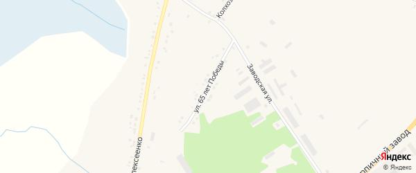 Улица 65 лет Победы на карте села Глотово с номерами домов