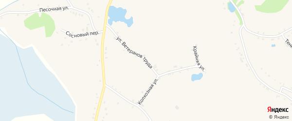 Улица Ветеранов Труда на карте села Горы-Подол с номерами домов