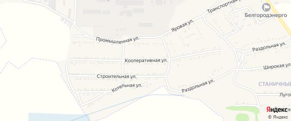 Кооперативная улица на карте поселка Красной Яруги с номерами домов
