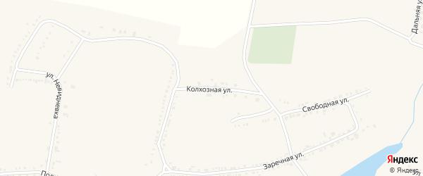 Колхозная улица на карте поселка Красной Яруги с номерами домов