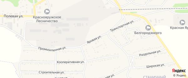 Яровая улица на карте поселка Красной Яруги с номерами домов