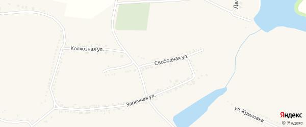 Свободная улица на карте поселка Красной Яруги с номерами домов