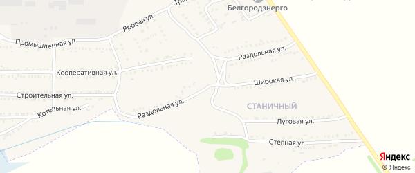 Раздольная улица на карте поселка Красной Яруги с номерами домов