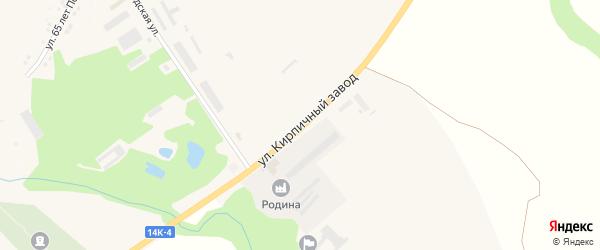 Улица Кирпичный завод на карте села Горы-Подол с номерами домов