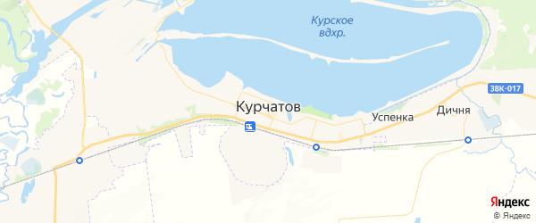 Карта Курчатова с районами, улицами и номерами домов