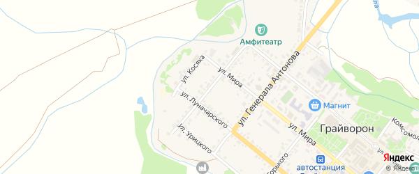 Улица Кузнецова на карте Грайворона с номерами домов