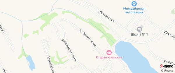 Улица Вдовытченко на карте поселка Красной Яруги с номерами домов