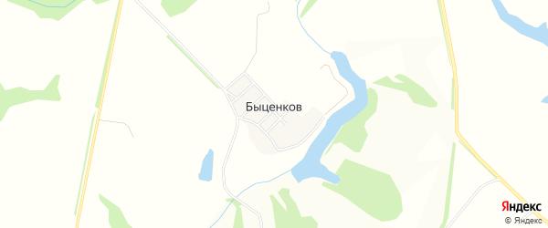 Карта поселка Быценкова в Белгородской области с улицами и номерами домов