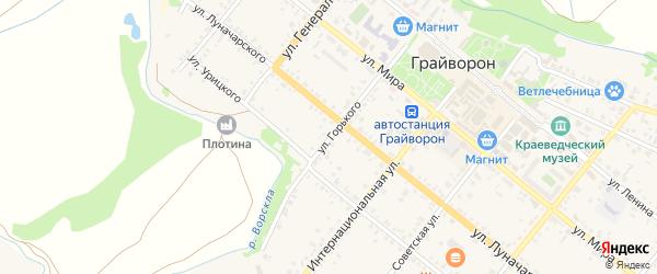 Улица Максима Горького на карте Грайворона с номерами домов