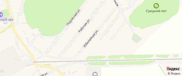Юбилейная улица на карте поселка Красной Яруги с номерами домов
