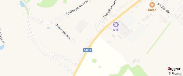 Республиканская улица на карте села Горы-Подол с номерами домов