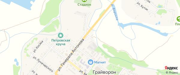 Улица Таршикова на карте Грайворона с номерами домов