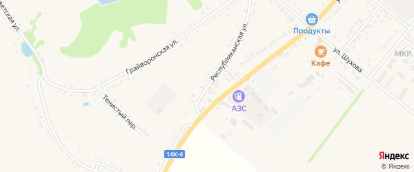 Республиканская улица на карте Грайворона с номерами домов