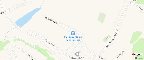 Улица Крыловка на карте поселка Красной Яруги с номерами домов