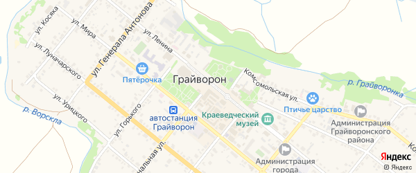 Улица Капитана Колесникова на карте Грайворона с номерами домов