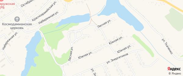 Лесная улица на карте поселка Красной Яруги с номерами домов