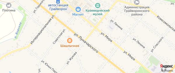 Улица Жукова на карте Грайворона с номерами домов