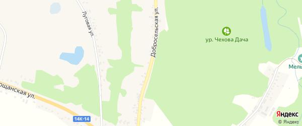 Добросельская улица на карте села Замостья с номерами домов