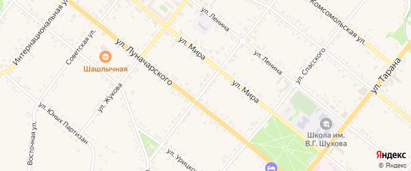 Пролетарская улица на карте Грайворона с номерами домов