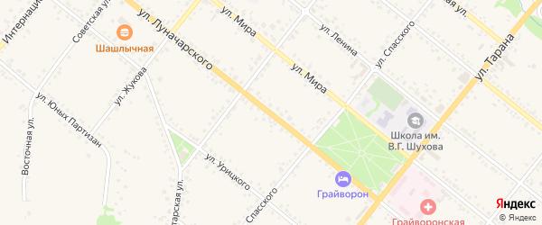 Улица Луначарского на карте Грайворона с номерами домов