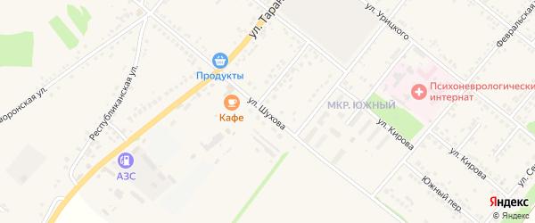 Улица Шухова на карте Грайворона с номерами домов