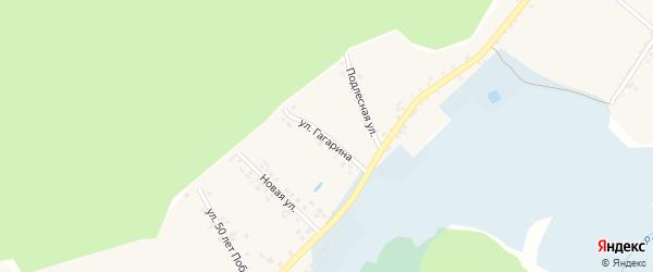 Улица Гагарина на карте Доброго села с номерами домов