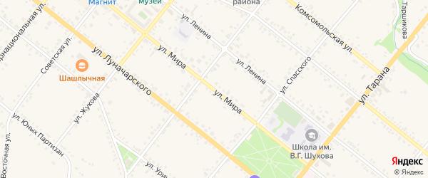 Улица Мира на карте села Горы-Подол с номерами домов