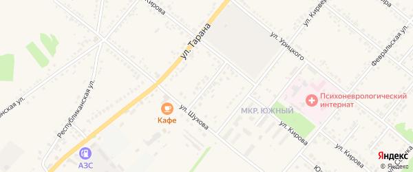 Солнечный переулок на карте Грайворона с номерами домов