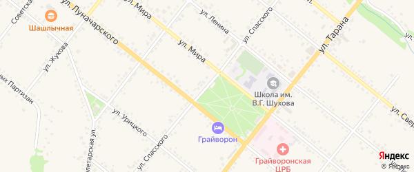 Улица Спасского на карте Грайворона с номерами домов