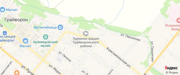 Комсомольская улица на карте Грайворона с номерами домов