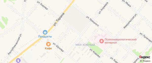 Улица Кирова на карте Грайворона с номерами домов