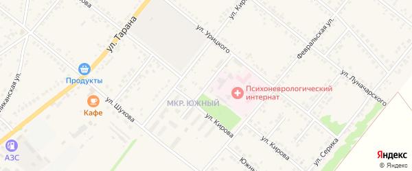 Заводская улица на карте Грайворона с номерами домов