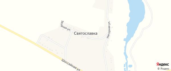 Нагорная улица на карте села Святославки с номерами домов