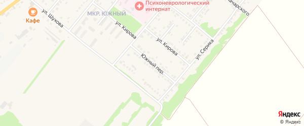 Южный переулок на карте Грайворона с номерами домов