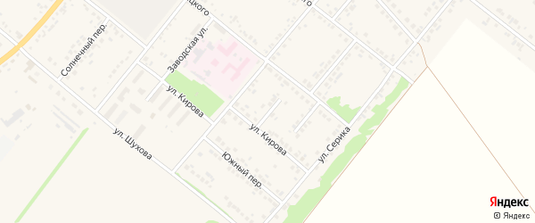 Переулок Кирова на карте Грайворона с номерами домов