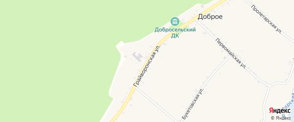 Грайворонская улица на карте Доброго села с номерами домов