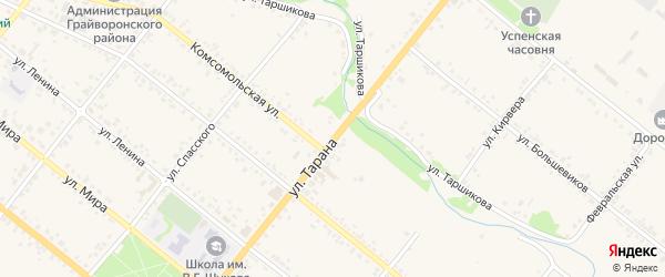 Улица Тарана на карте Грайворона с номерами домов