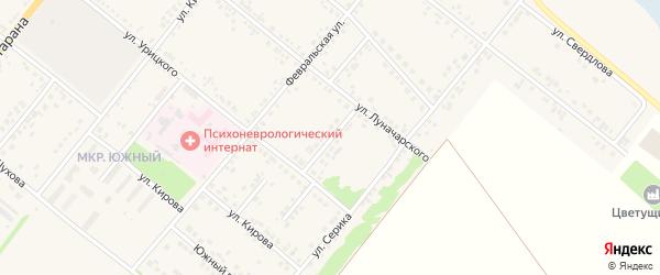 Улица Героев Кантемировцев на карте Грайворона с номерами домов