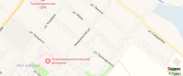 Улица 20 Партсъезда на карте Грайворона с номерами домов