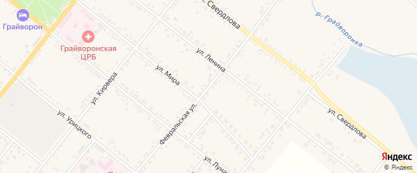 Февральская улица на карте Грайворона с номерами домов