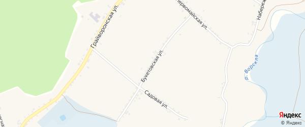 Букетовская улица на карте Доброго села с номерами домов