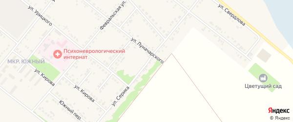 Улица Серика на карте Грайворона с номерами домов