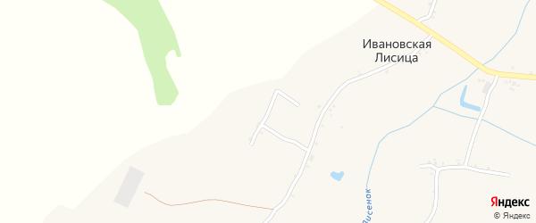Пионерская улица на карте села Ивановской Лисицы с номерами домов