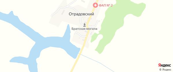 Улица Гринько на карте Отрадовского поселка с номерами домов