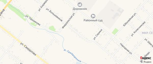 Улица Большевиков на карте Грайворона с номерами домов